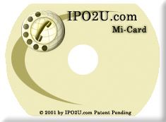 The Name Card size Mi-Card